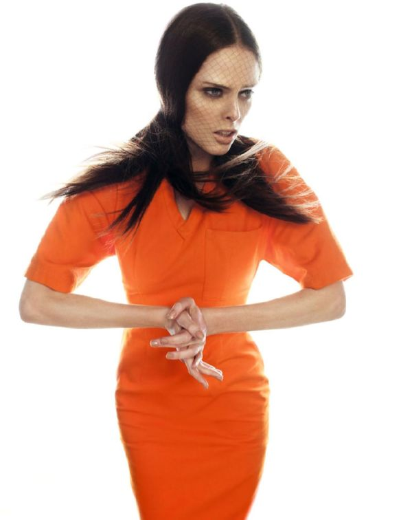 """Orange Spring '11 Trend, Orange Dress, Coco Rocha, Spring '11 Trends"""