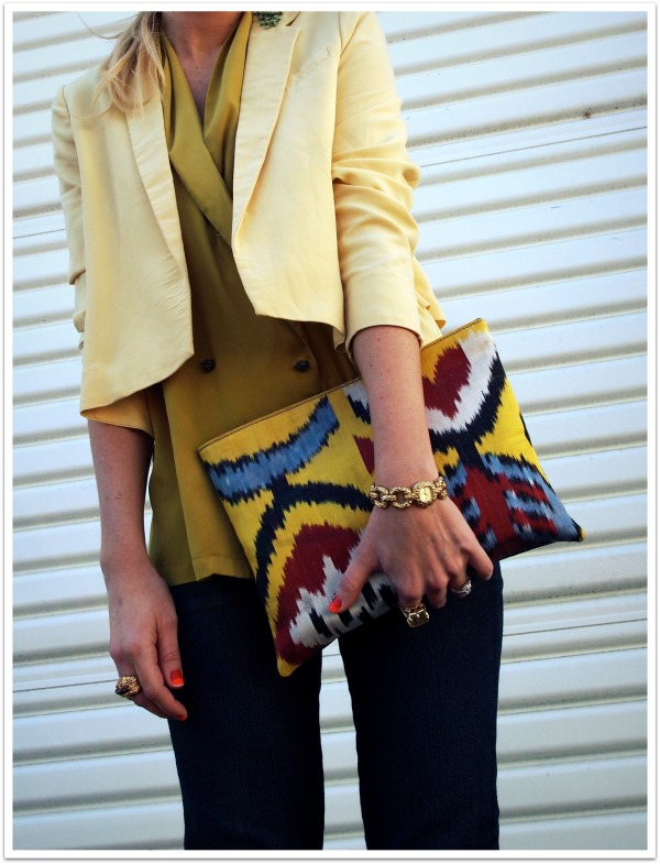 """Colorblocking, spring trends, yellow"""