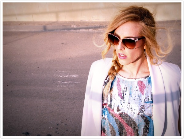 """Sequin Top, Maxi Skirt, Pink, Blue, Cream Blazer, Personal Style, Spring Trends '11"""