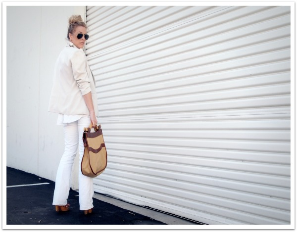 """""""Spring Trends, White Trend, Quiksilver Women, White Flare Jeans"""