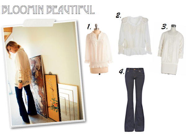 """Shopping List, Hippie Style, Lace Blouse, Floral Blouse, J Brand Lovestory"""