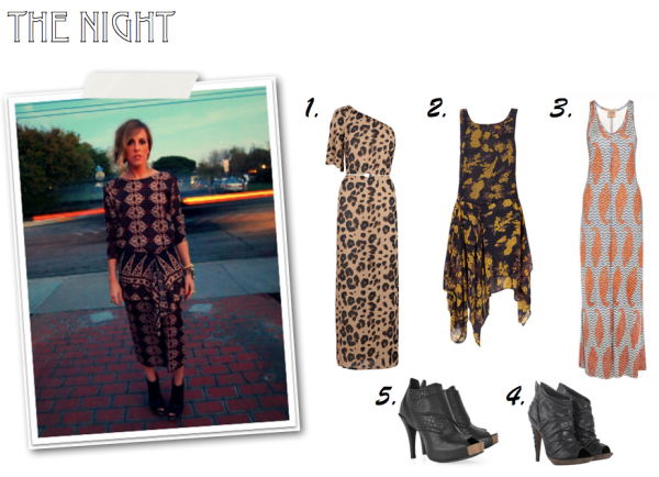 """Tribal Print Dress, Tory Burch, All Saints, Topshop, Print Maxi Dress"""