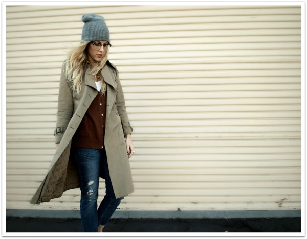 """Trench Style, Trench Jacket, Trench Coat, Distressed Denim, MNG by Mango JCPenney, Glasses, Personal Style, B. Jones Style, Weekend Look, Beanie"""
